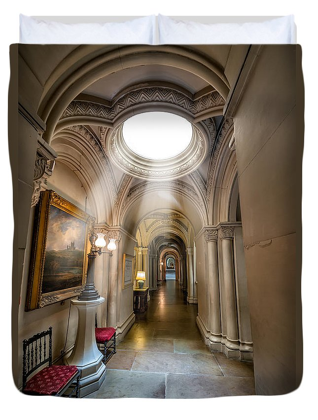 British Duvet Cover featuring the photograph Decorative Hall by Adrian Evans