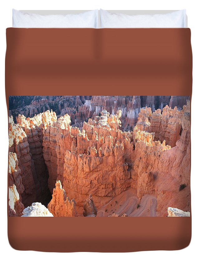 Canyon Duvet Cover featuring the photograph Deep Canyon - Bryce Np by Christiane Schulze Art And Photography