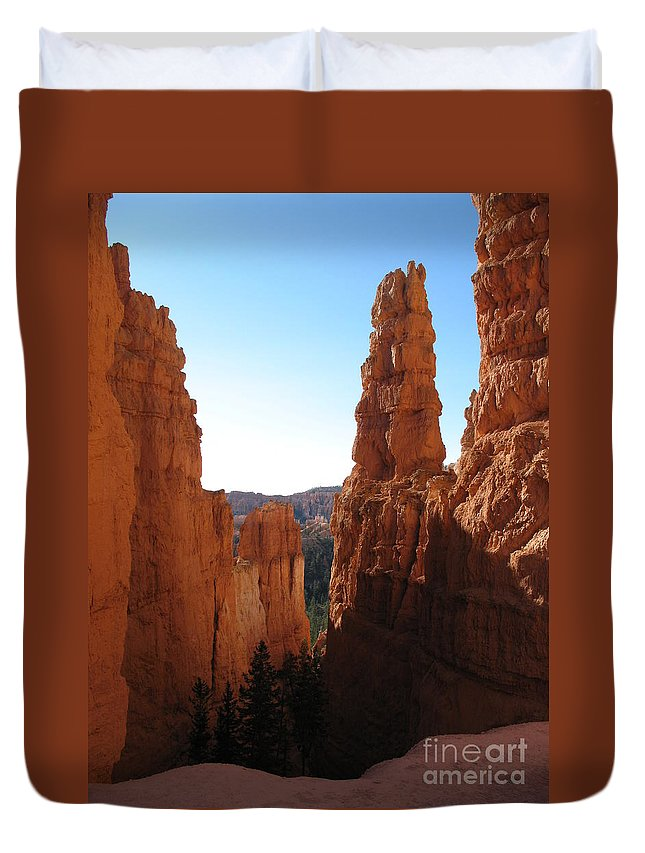 Canyon Duvet Cover featuring the photograph Deep Down - Bryce Canyon by Christiane Schulze Art And Photography