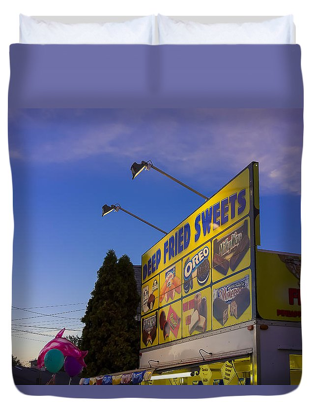 Fair Duvet Cover featuring the photograph Deep Fried by David Stone