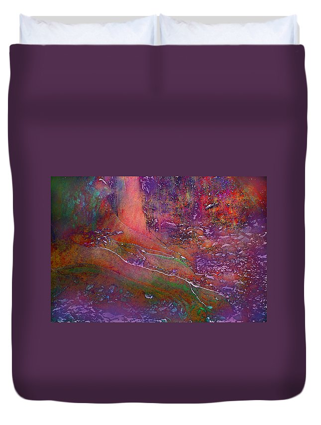 Forest Duvet Cover featuring the digital art Deep In The Rain Forest by Ian MacDonald