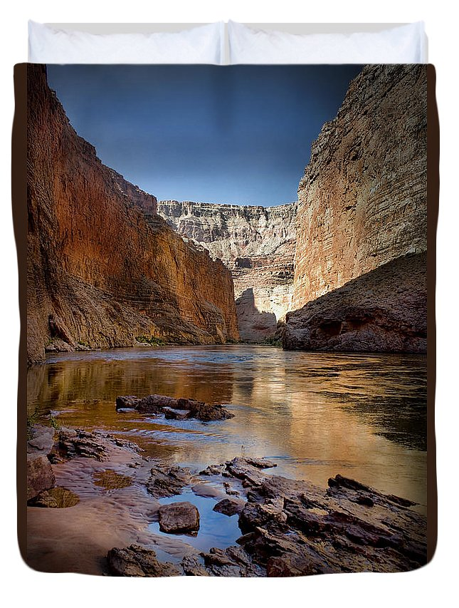 Grand Canyon Duvet Cover featuring the photograph Deep Inside The Grand Canyon by Ellen Heaverlo