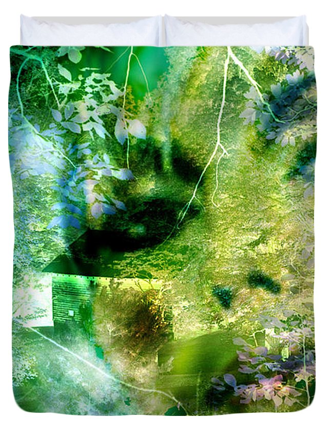 Deep Woods Wanderings Duvet Cover featuring the digital art Deep Woods Wanderings by Seth Weaver