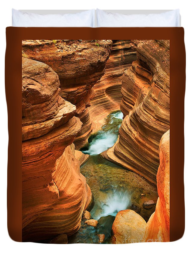 America Duvet Cover featuring the photograph Deer Creek Slot by Inge Johnsson