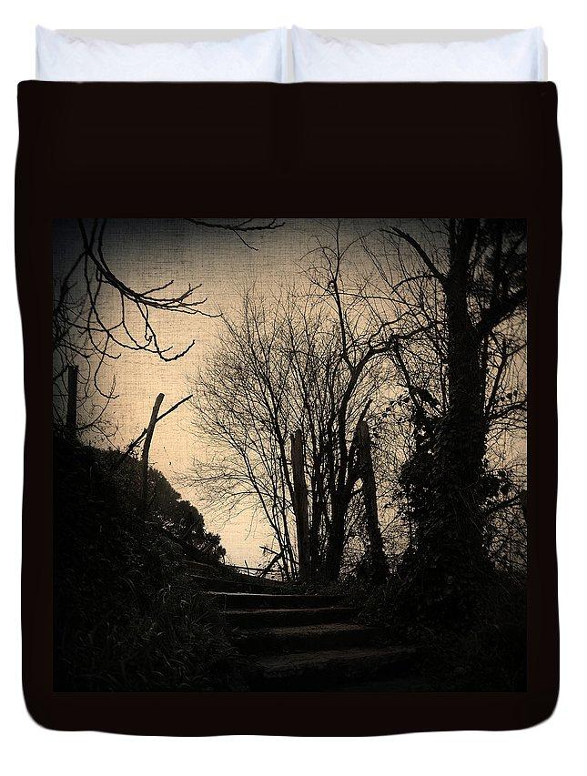 Tree Duvet Cover featuring the photograph Deja Vu II by Zapista