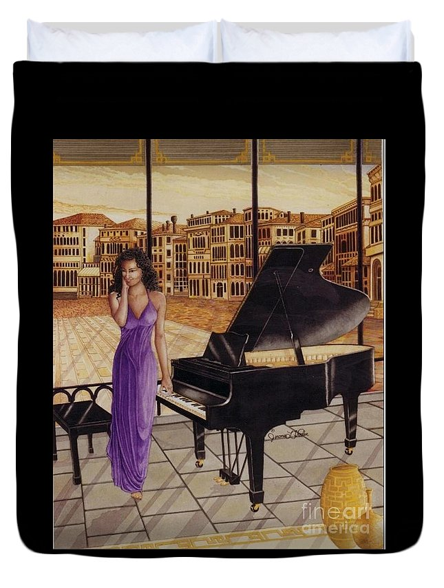 Watercolor Duvet Cover featuring the painting Deja Vu by JL Vaden