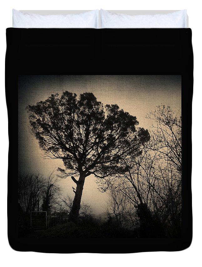 Tree Duvet Cover featuring the photograph Deja Vu by Zapista