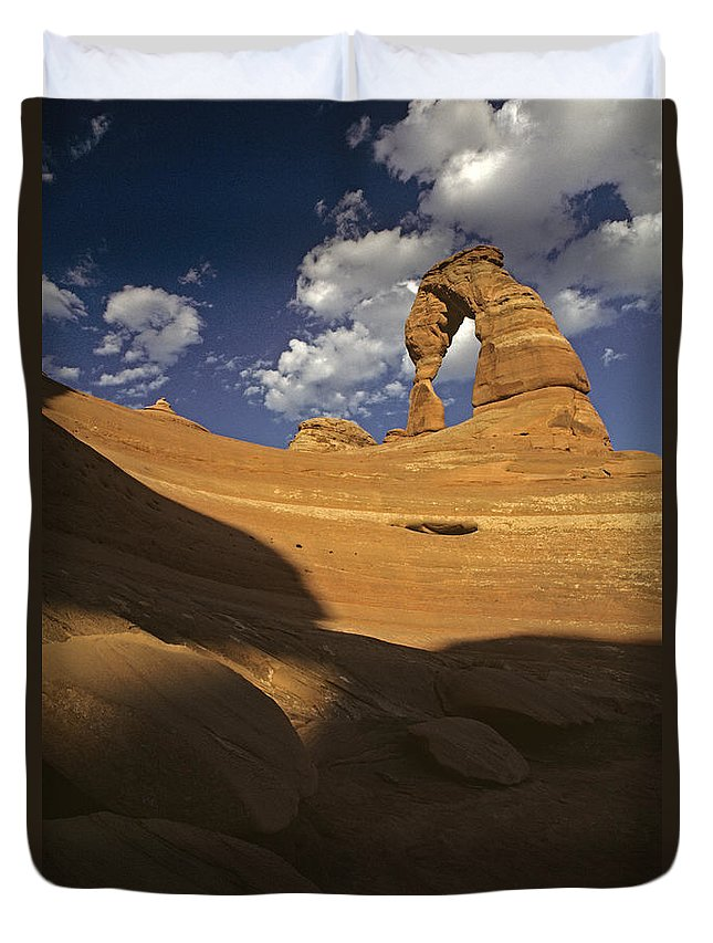 Landscape Duvet Cover featuring the photograph Delicate Arch by Jim Corwin