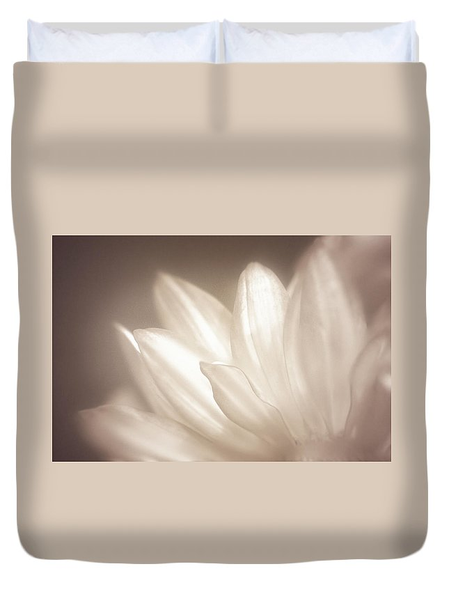 Bloom Duvet Cover featuring the photograph Delicate by Scott Norris