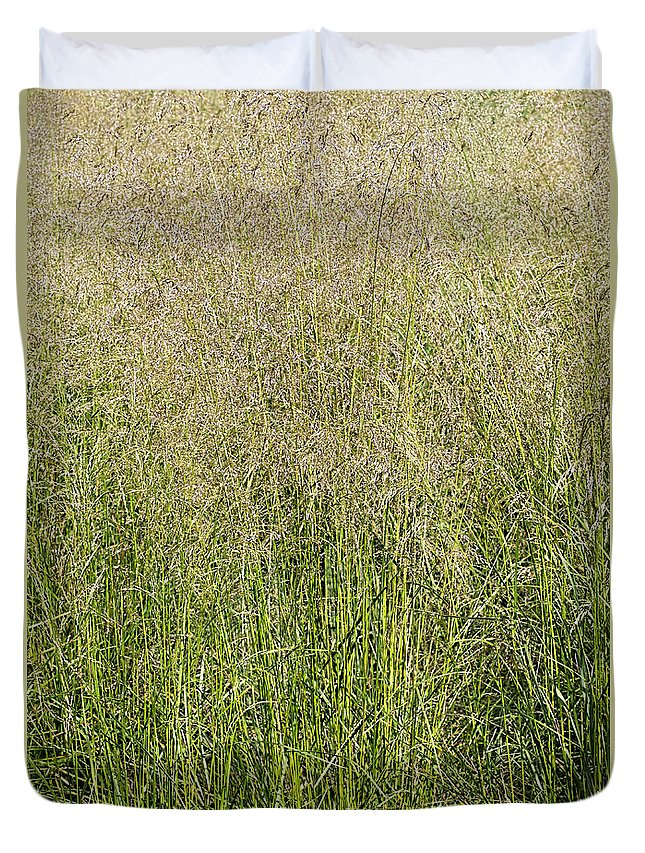 Tall Grass Duvet Cover featuring the photograph Delicate Tall Grasses by Barbara McMahon