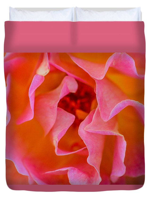 Rose Duvet Cover featuring the photograph Depth by Mary Hahn Ward