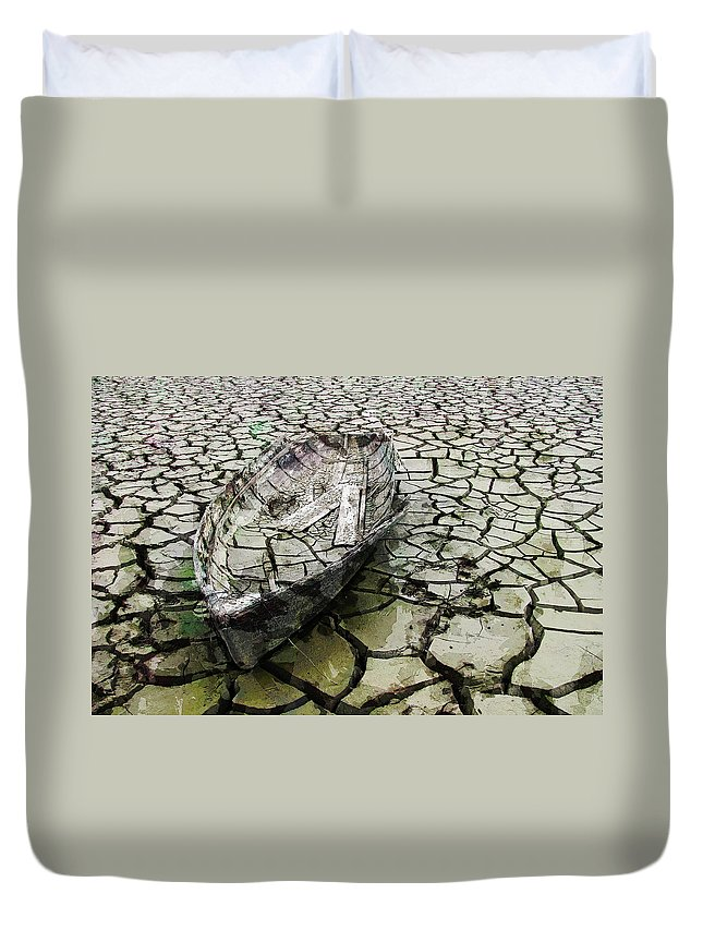 Boat Duvet Cover featuring the photograph Desert Boat by Daniel Hagerman