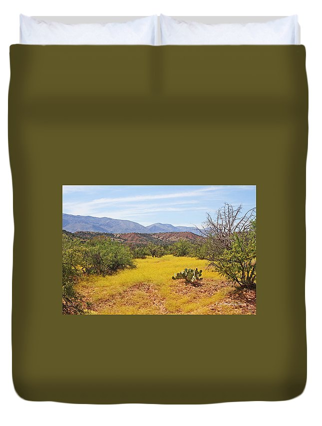 Desert Duvet Cover featuring the photograph Desert Buckwheat Ground Cover by Tom Janca