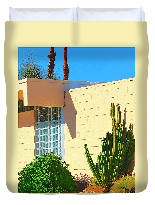 7 Lakes Duvet Cover featuring the photograph Desert Modern 7 Lakes Palm Springs by William Dey