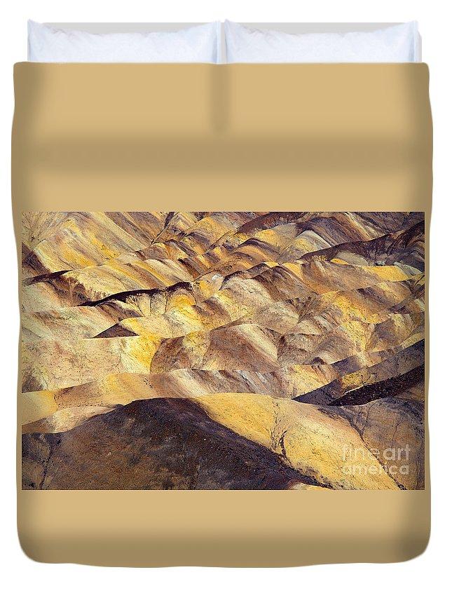 Zabriskie Point Duvet Cover featuring the photograph Desert Undulations by Mike Dawson