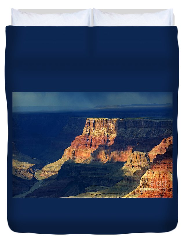 Grand Canyon Duvet Cover featuring the photograph Desert View Grand Canyon 2 by Bob Christopher