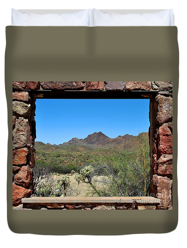 Tucson Duvet Cover featuring the photograph Desert Window by Jemmy Archer