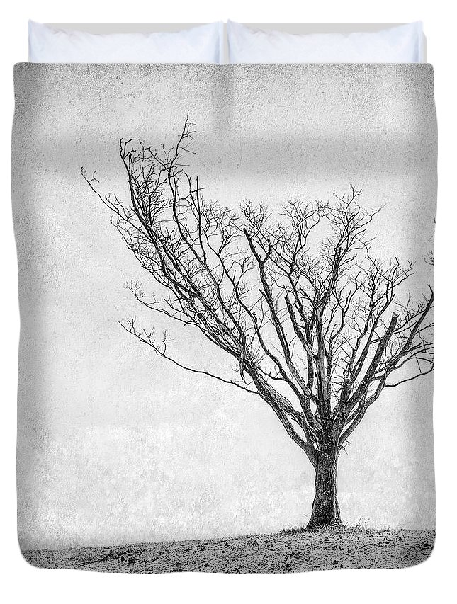 Landscape Photography Duvet Cover featuring the photograph Desperate Reach by Scott Norris