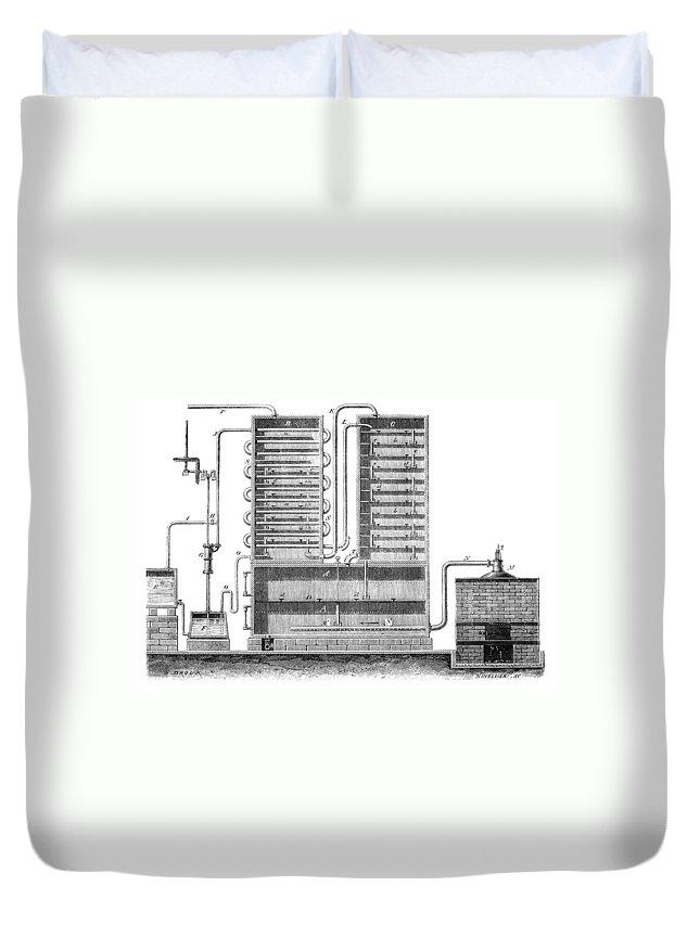 1830 Duvet Cover featuring the photograph Destillation, 1831 by Granger