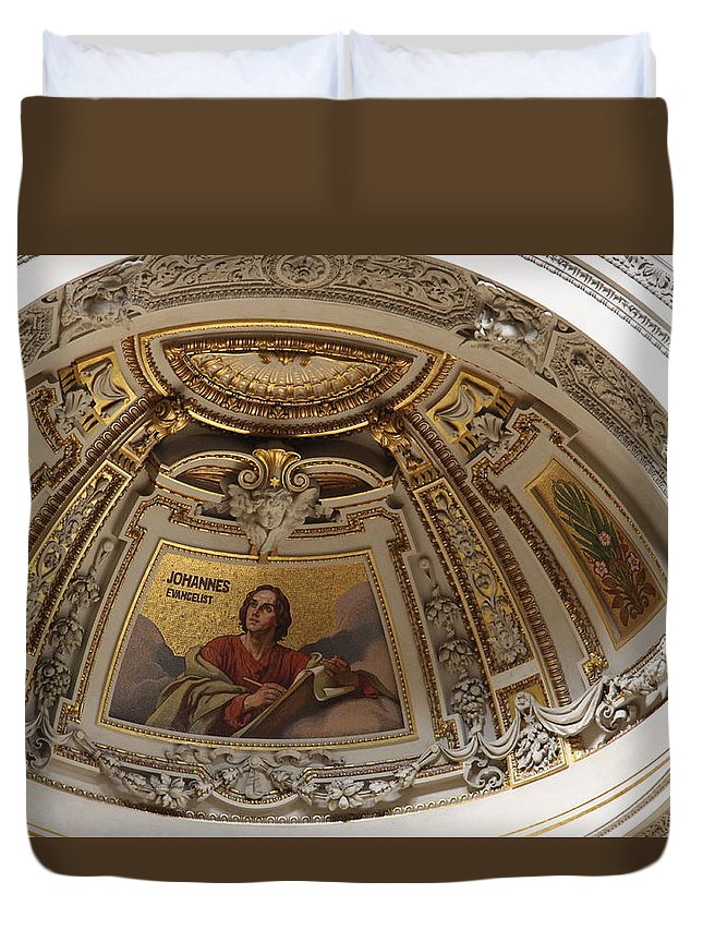 Cathedral Duvet Cover featuring the photograph Detail Berliner Dom by Christiane Schulze Art And Photography