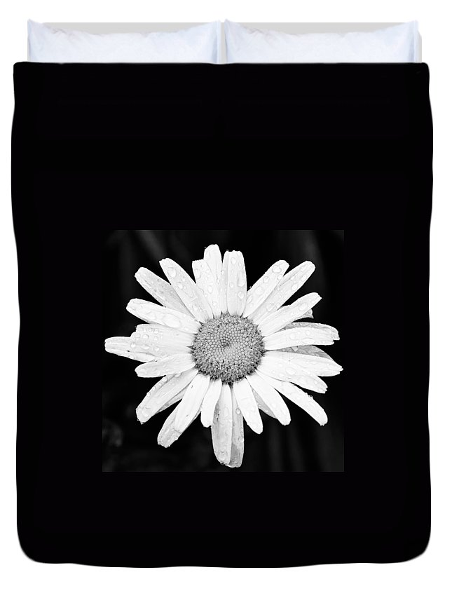 3scape Duvet Cover featuring the photograph Dew Drop Daisy by Adam Romanowicz