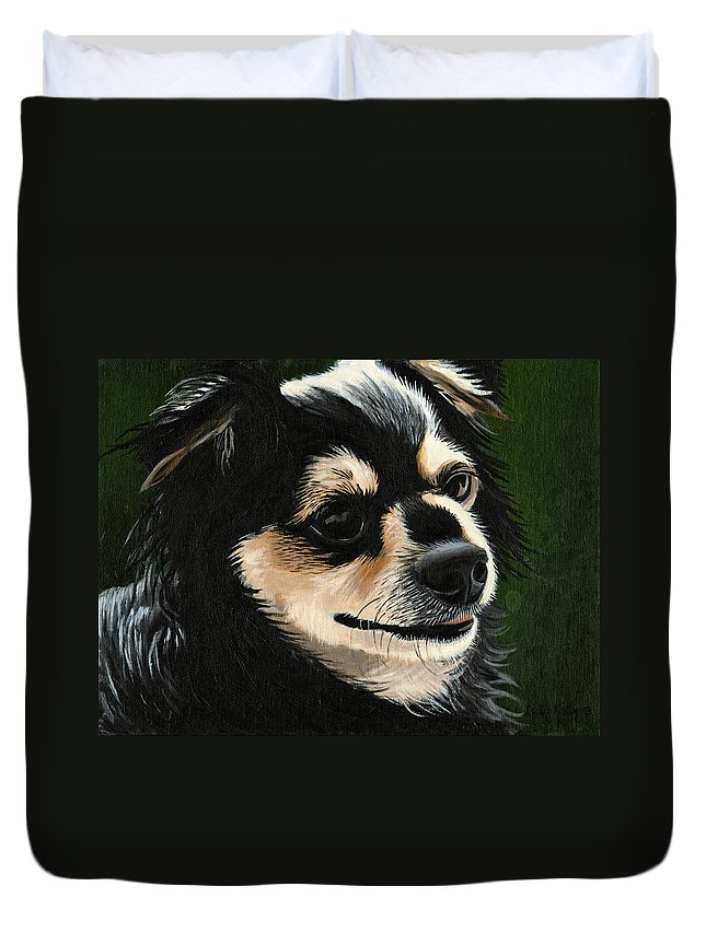 Art Duvet Cover featuring the painting Diego by Dustin Miller