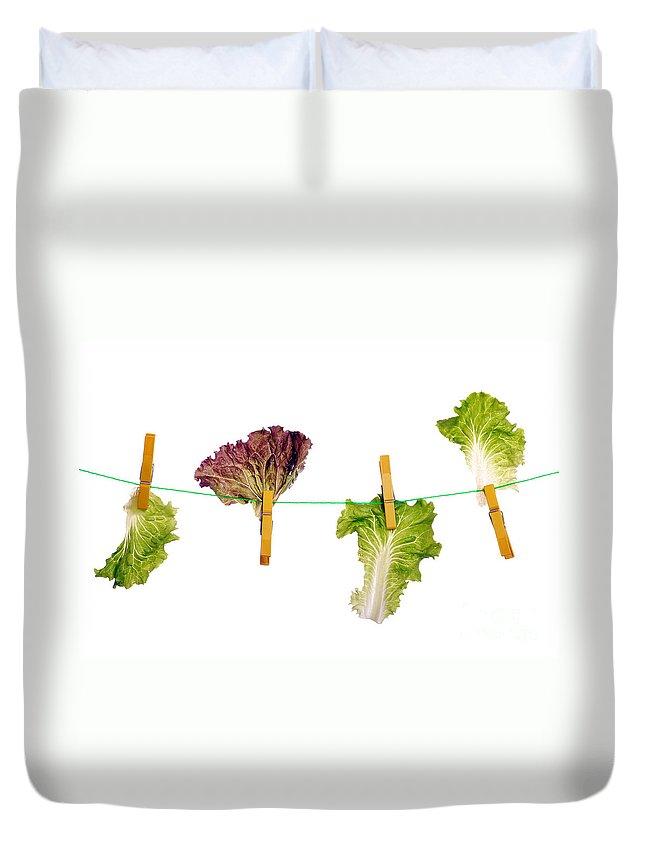Diet Duvet Cover featuring the photograph Dieting Concept by Luis Alvarenga
