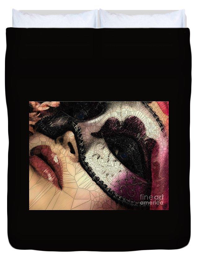 Digital Duvet Cover featuring the digital art Digital by Catherine Lott