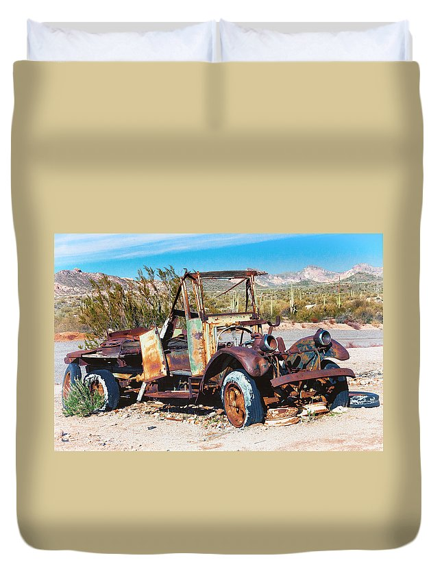Truck Duvet Cover featuring the photograph Dilapidated by Diane Wood