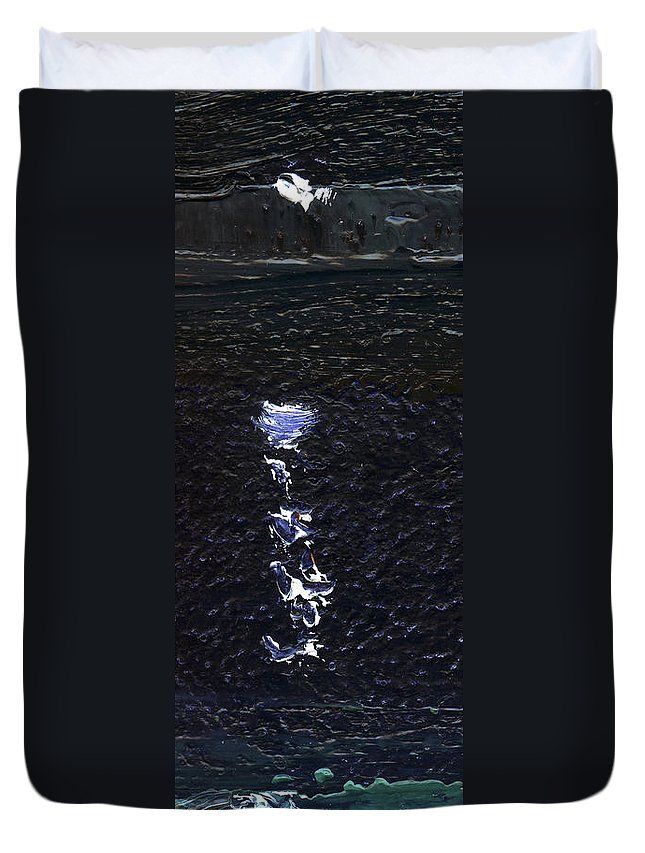 Colour Duvet Cover featuring the painting Dingle Quay By Night Detail 2 On The Wild Atlantic Way Of Western Ireland by Catherine Considine