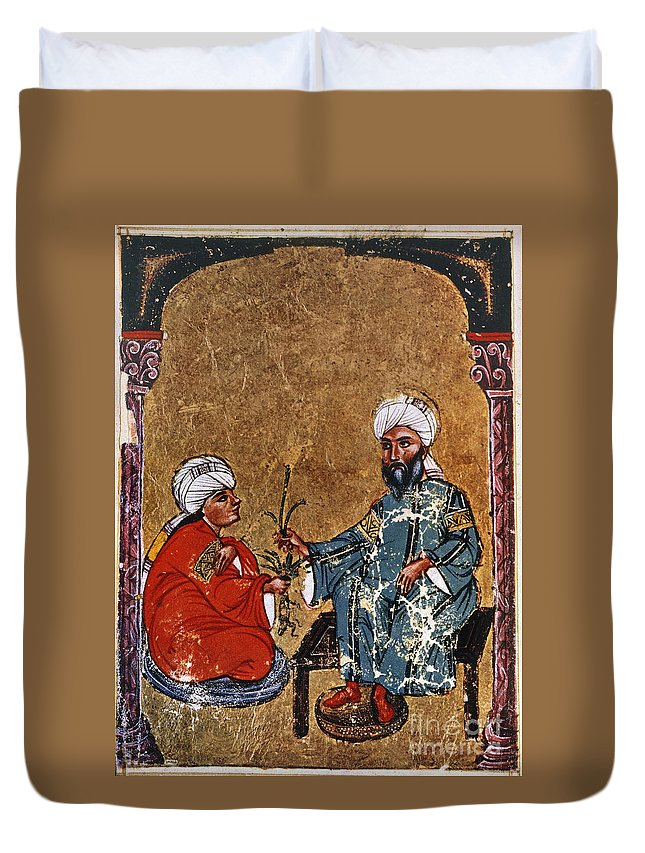 1229 Duvet Cover featuring the photograph Dioscorides And Student by Granger
