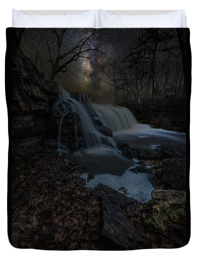 Milky Way Duvet Cover featuring the photograph Discover The Stars by Aaron J Groen