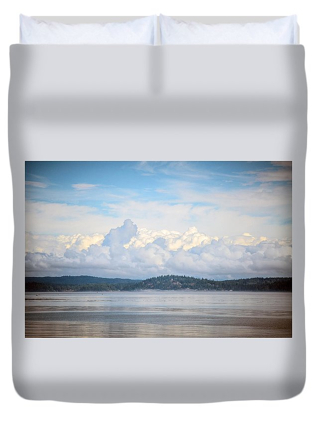 Discovery Passage Duvet Cover featuring the photograph Early Morning Discovery Passage by Roxy Hurtubise