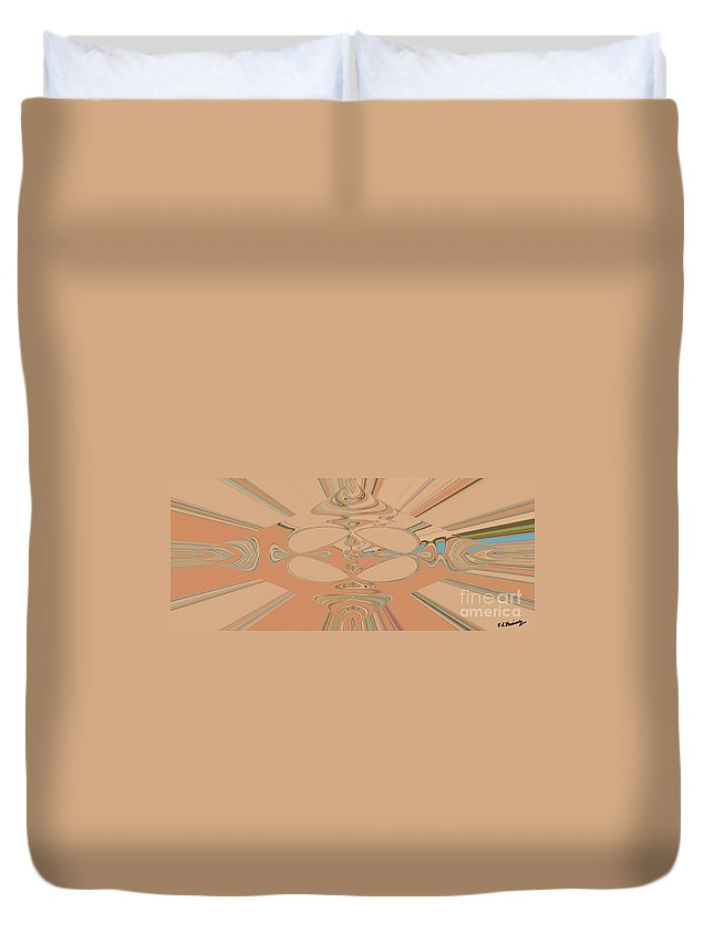 Abstract Duvet Cover featuring the painting Disegni by Loredana Messina