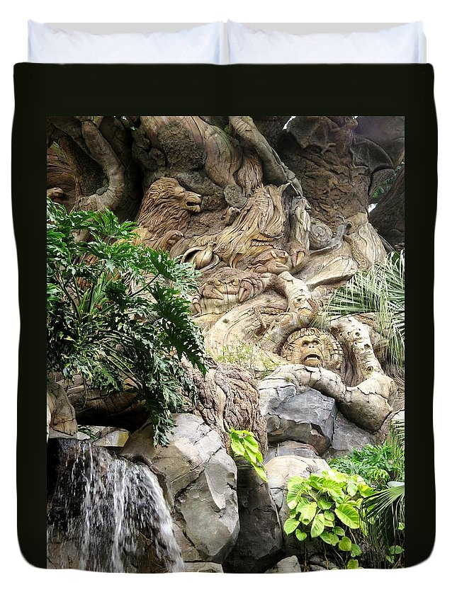 The Tree Of Life Duvet Cover featuring the photograph Disney Tree Of Life by Zina Stromberg