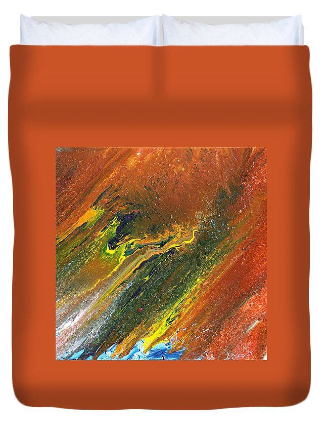 Fusionart Duvet Cover featuring the painting Distance by Ralph White