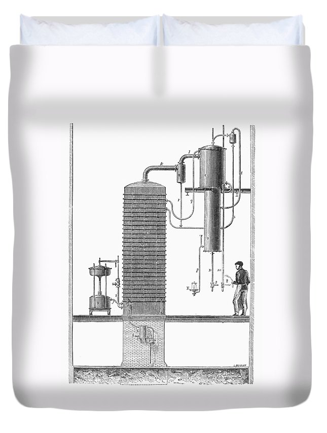 19th Century Duvet Cover featuring the photograph Distillation, 19th Century by Granger