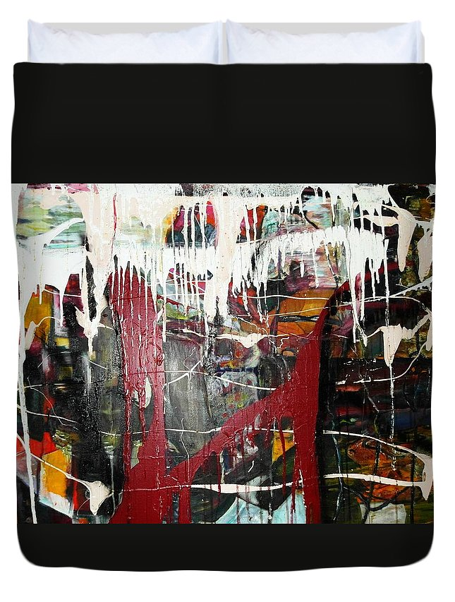 Non-objective Duvet Cover featuring the photograph Diversity by Peggy Blood