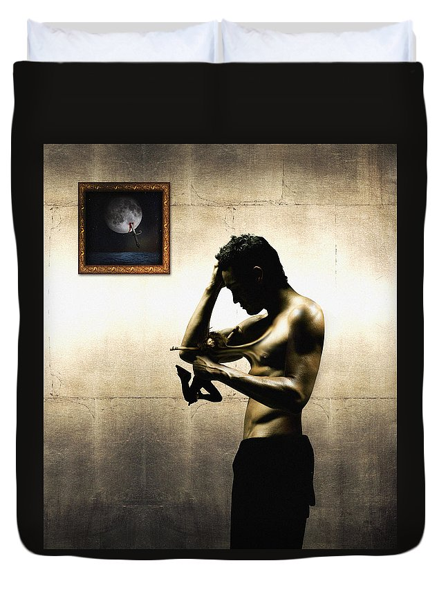 People Duvet Cover featuring the digital art Divide Et Pati - Divide And Suffer by Alessandro Della Pietra