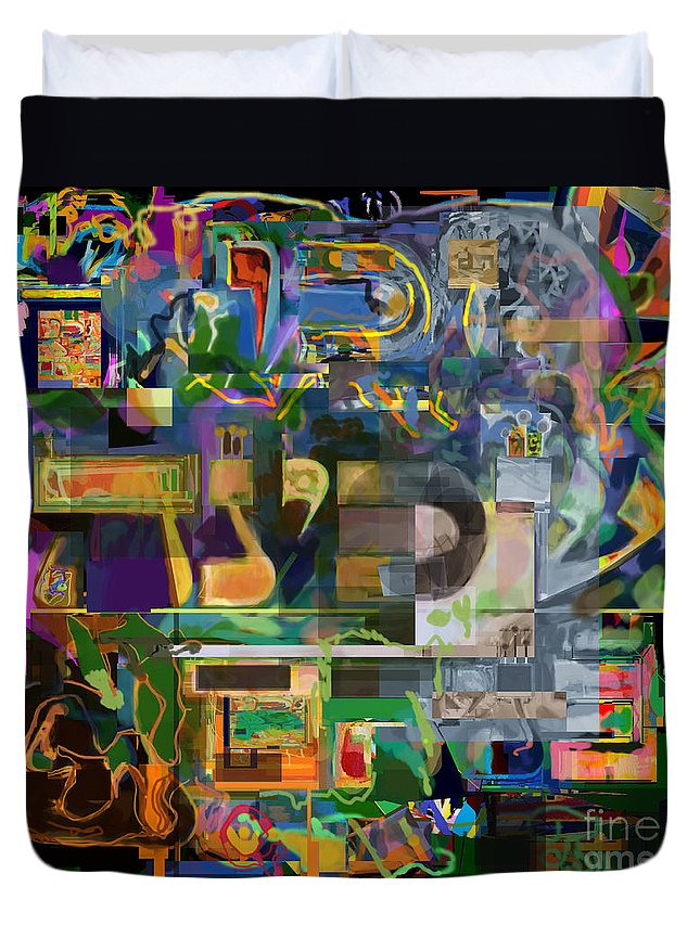 Torah Duvet Cover featuring the digital art Divinely Blessed Marital Harmony 48 by David Baruch Wolk
