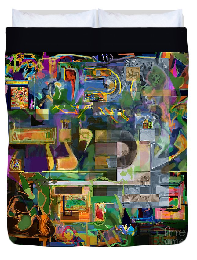 Torah Duvet Cover featuring the digital art Divinely Blessed Marital Harmony 49 by David Baruch Wolk