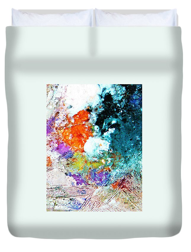 Ice-painting Duvet Cover featuring the photograph Djinn Blows ... Dove Floating In The Wind by Chris Sotiriadis