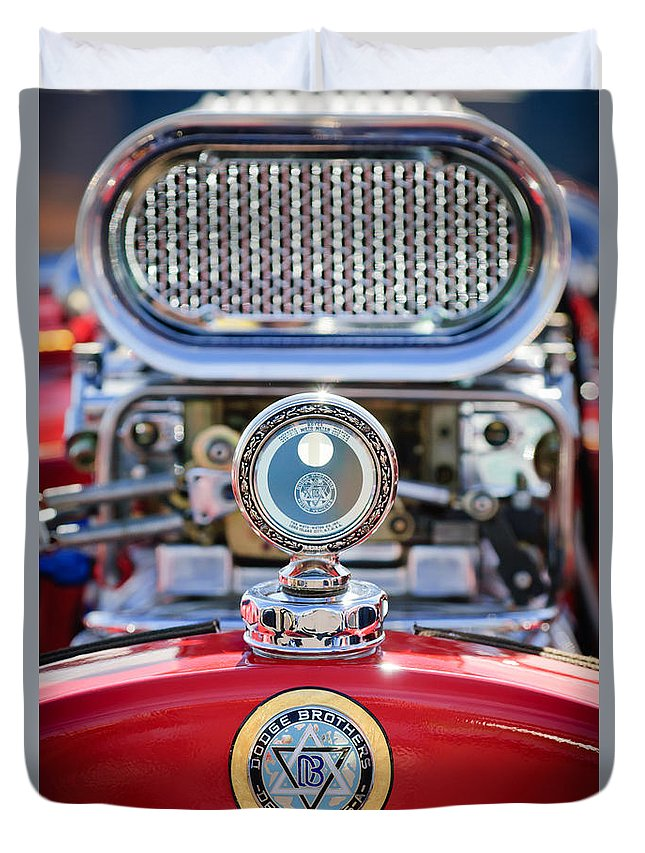Dodge Brothers Duvet Cover featuring the photograph Dodge Brothers - Boyce Motometer by Jill Reger