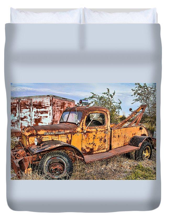 Dodge Power Wagon For Sale >> Dodge Power Wagon Wrecker Duvet Cover