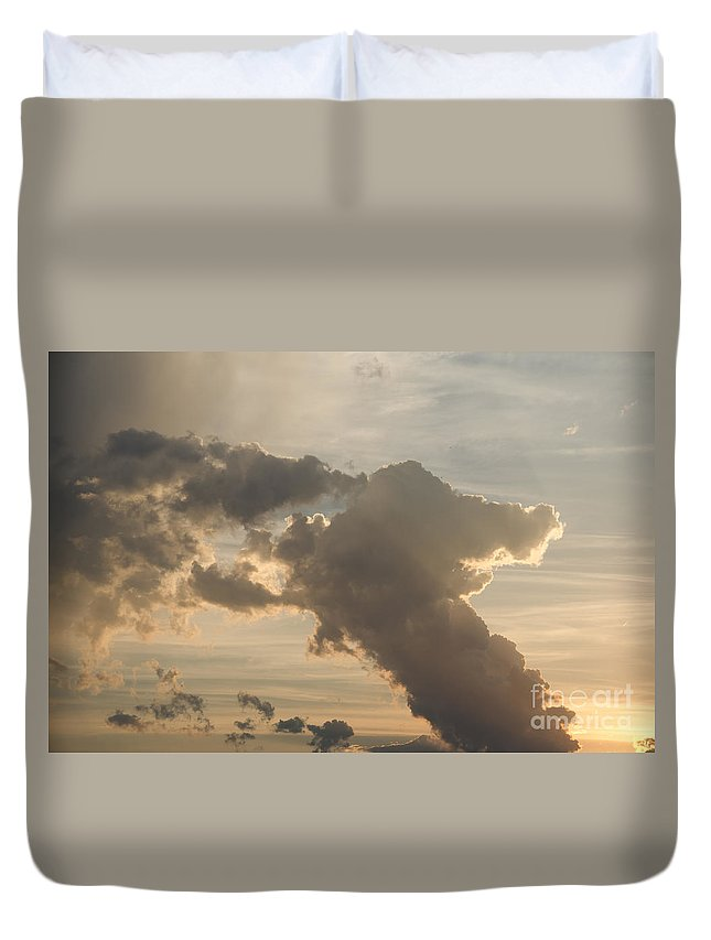 Ice Duvet Cover featuring the photograph Dog Cloud by Cassie Marie Photography