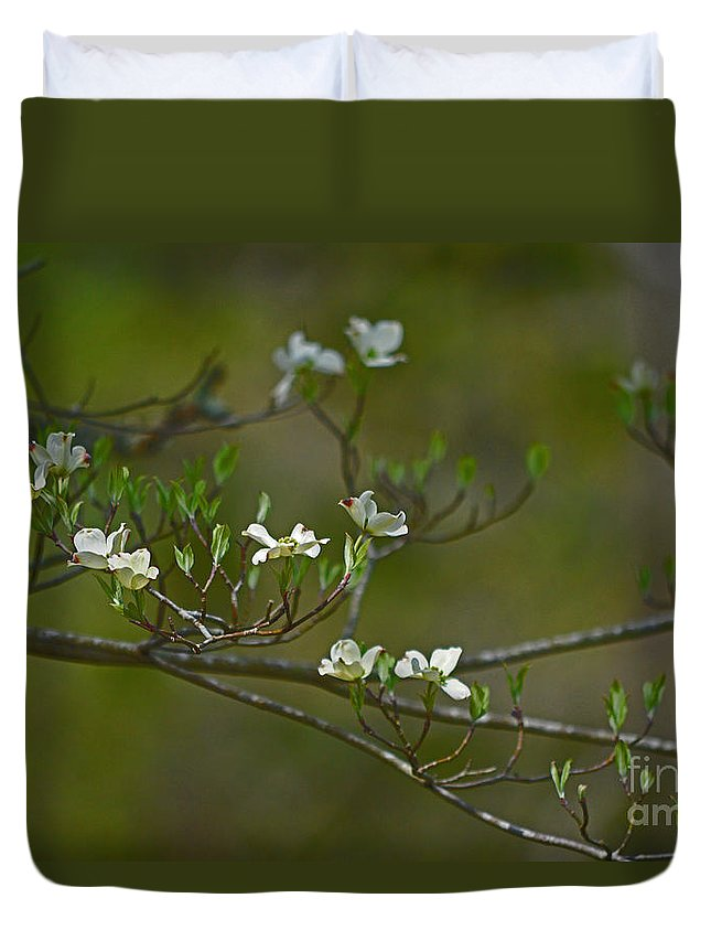Dogwood Duvet Cover featuring the photograph Dogwood I by Karin Everhart