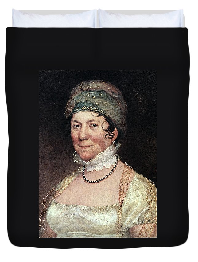 19th Century Duvet Cover featuring the painting Dolley Payne Todd Madison (1768-1849) by Granger