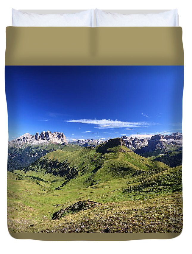 Alpine Duvet Cover featuring the photograph Dolomiti - High Fassa Valley by Antonio Scarpi
