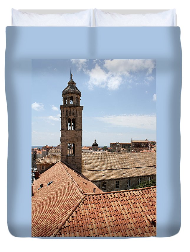 Dubrovnik Duvet Cover featuring the photograph Dominican Monastery by David Nicholls