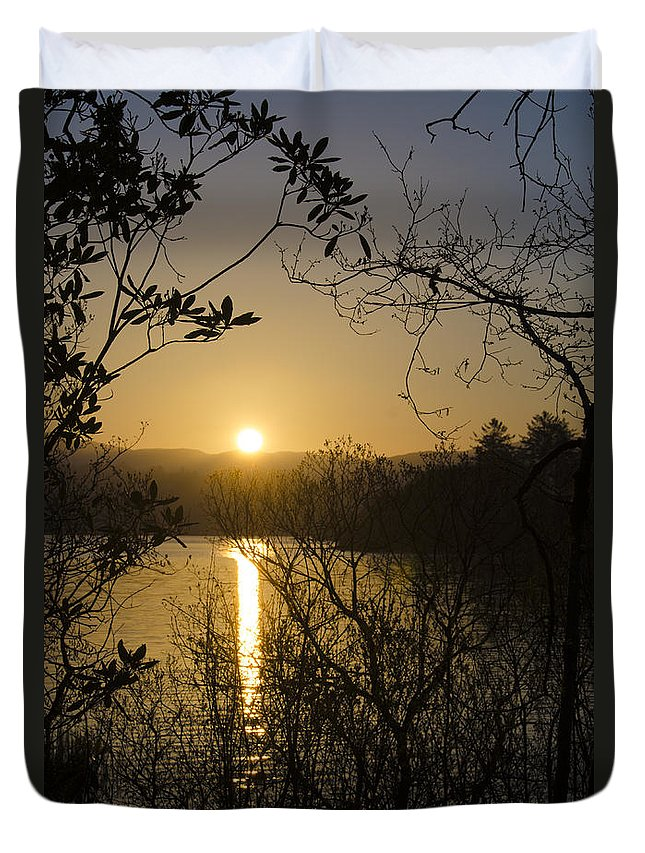 Donegal Duvet Cover featuring the photograph Donegal Morning - Lough Eske by Bill Cannon